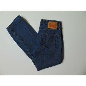 Levi's 514 29 X 30 Slim Straight Blue Jeans Denim